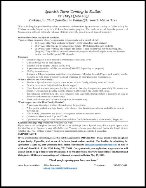Informatiional Sheet 4-16-16